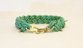 """Halsband geflochten aus Reepschnur  in """"Light Green"""""""