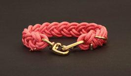 """Halsband geflochten aus Reepschnur  in """"Bright-Pink"""""""