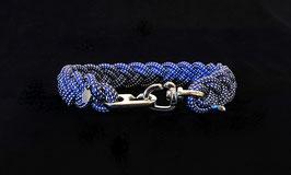 """Halsband geflochten aus Reepschnur  in """"Marineblau-Weiß"""""""