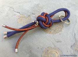 Schlüsselanhänger in einer Kombi aus Reepschnur und Leder
