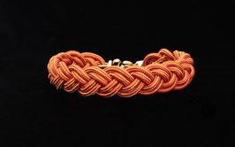 """Halsband geflochten aus Reepschnur  in """"Rot-Orange"""""""