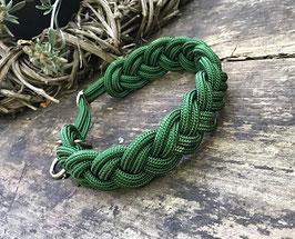 """NEU Halsband geflochten aus Reepschnur  in frischem """"Tannengrün"""""""