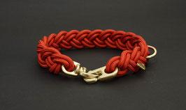 """Halsband geflochten aus Reepschnur  in """"Cranberry"""" (ohne Leine)"""