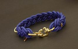 """Halsband geflochten aus Reepschnur  in """"Royalblau"""""""