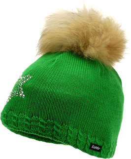 Selina Fur Crystal Eisbär Mütze
