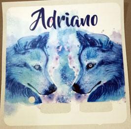 Wolf Aquarell 2 ( in allen Boxfarben erhältlich)