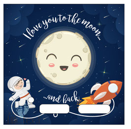 I Love yuo to the moon..... ( Astronaut)