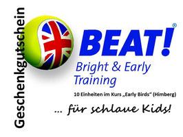 """Geschenkgutschein 10er-Block Kurs """"Early Birds"""" (Himberg)"""