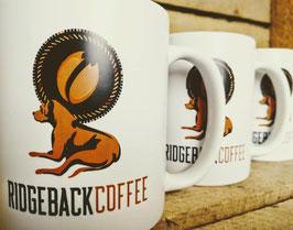 Edle Keramiktasse in Mattoptik mit Ridgeback Coffee Logo