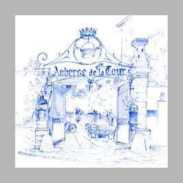 Skizze vom Auberge de la Tour in Aups. LAN16.