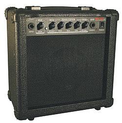 Career CA15R Guitar Amp, schwarz, Reverb