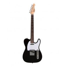 Aria Electric Guitar Black 615-FRONTI BK