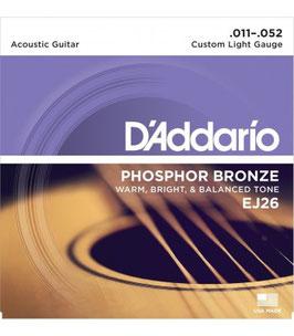 D'addario Phosphor Bronze/Custom Light 011-052 EJ-26