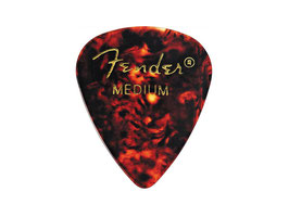 Fender Classic Celluloid Picks 351 shape medium shell guitar picks