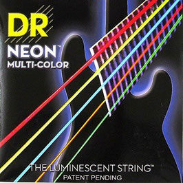 DR Strings NMCE-10 NEON Multi-Color Electric Medium snarenset
