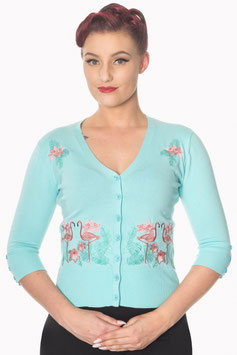 Banned face to face cardigan aqua blue