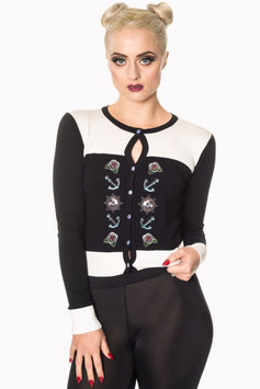 Banned anchor roses cardigan