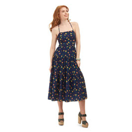 Bright & Beautiful judy painted floral dress navy mt 12 (38)