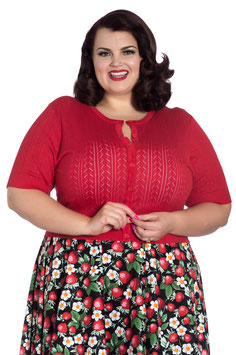 Hell Bunny loretta cardigan red