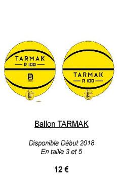 Ballon Tarmak  Taille 3 ou 5