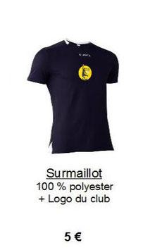 Surmaillot Noir + Logo du club