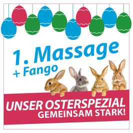 Gutschein für 1x Massage inkl. Fango