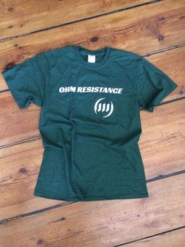 OHM Resistance - Shirt - Logo - DRK GRN