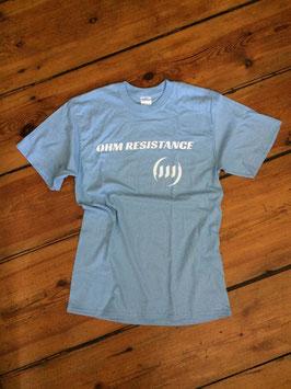 OHM Resistance - Shirt - Logo - SKY BLU