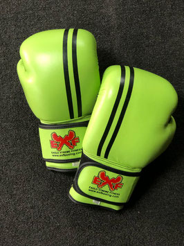 Leather Boxing Gloves - Neon Green
