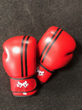 Leather Boxing Gloves - Red