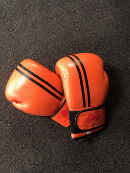 Leather Boxing Gloves - Orange