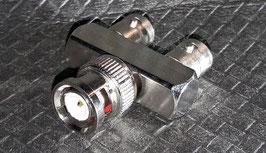 Adapter 2x BNC-Buchse auf 1x BNC Stecker