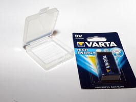 Aufbewahrungsbox/Transportbox für 2x 9V-Block Batterien