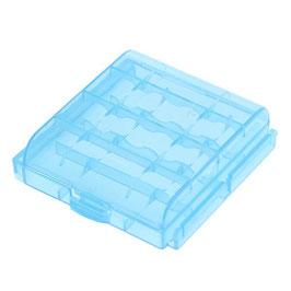 Akku-Box/ Transportbox für bis zu 4x Mignon AA oder Micro AAA blau