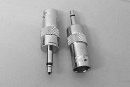Adapter BNC-Kupplung (w) auf 3,5mm Klinke -mono-