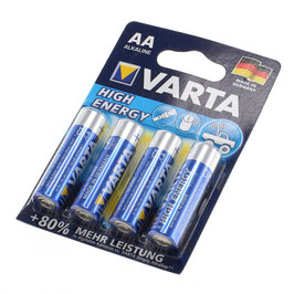 Varta Batterie High Energy 4er Pack AA oder AAA