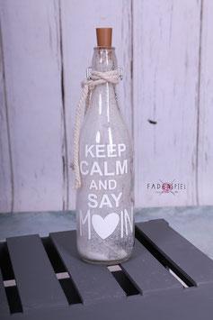 LED Flasche #KeppCalmandsayMoin