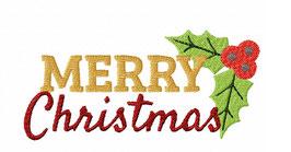Vollstick Schriftzug #MerryChristmas in 4 Größen