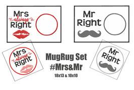MugRug #Mr&Mrs Set 8 Dateien 2 Größen