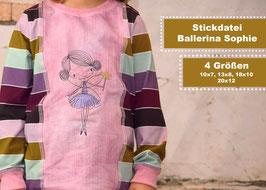 Stickdatei #BallerinaSophie 4 Größen ab 10x10 Rahmen