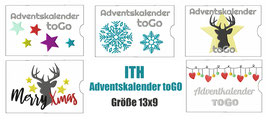 Stickdatei #AdventskalendertoGO 5 Designs