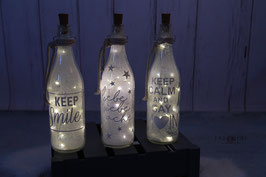 LED Flasche #Set 3 Stück