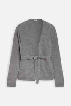 CLOSED | Cardigan zum Wickeln - grey heather melange