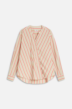 CLOSED | asymetrische Stehkragenbluse - resin stripes