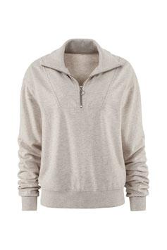 JUVIA | Troyer- Sweatshirt - beige melange