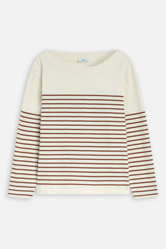 NEW IN! CLOSED |  Striped Longsleeve - white/red plum