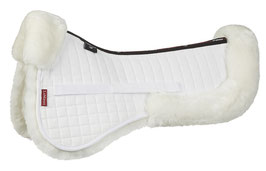AMORTISSEUR MOUTON MERINOS  Prolambskin Dressage Half Pad White/White Merino + Half Pads