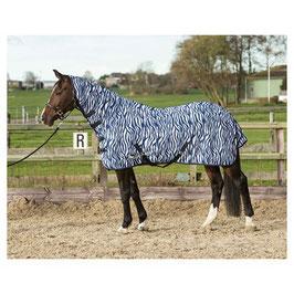 Chemise anti-mouches avec couvre-cou, zebra medival blue