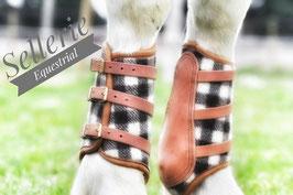 Guetres Camargue laine véritable et cuir