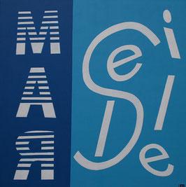 Série Marseille -  Typo rayée Marseille